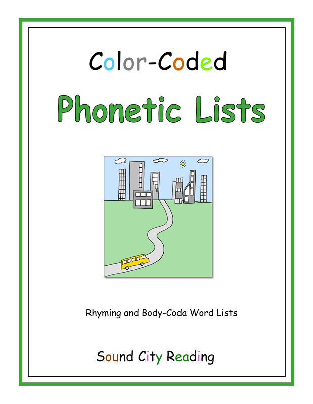 Color-Coded Phonetic Lists - SOUND CITY READING